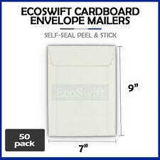 50 7 X 9 White Cddvd Photo Ship Flats Cardboard Envelope Mailer Mailers 7x9