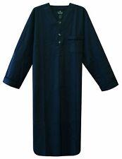 Stafford Men's Flannel Nightshirt Medium Solid Blue NWT JK