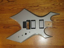 BC RICH PLATINUM PRO WARLOCK GUITAR BODY + ELECTRONICS PICKUP RINGS - in SILVER
