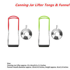 Mason Jar Lifter Tong Stainless Steel Canning Lifter With Grip Handle and Funnel