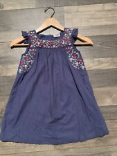 Girls Mini Boden Blue Dress Size 5-6Y
