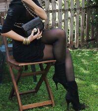 Womens Shiny Black Tights
