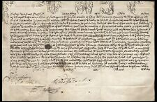 Papal Document Pope Clement XII (?) Circa 1700 Document on Vellum