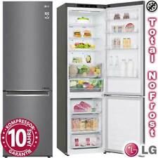 LG Kühl-Gefrierkombination Kühlschrank Total NoFrost DarkGraphite Edelstahl WOW