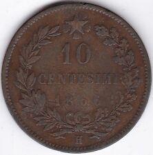 1866 H Italia 10 CENTESIMI RAME *** Da collezione *** ***