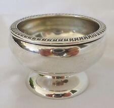 Sterling Silver Salt Cellar Fisher Vintage 28 Grams Silver Gadroon Holder 478
