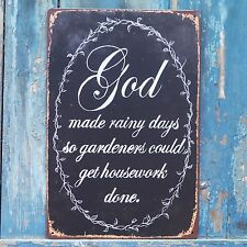 Collectibles God Poster Vintage Tin Metal Signs Home Wall Decor Garden Hanging