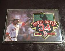 2016 DAVID ORTIZ Red Sox SGA Encased Final Season Patch Big Papi 10/2/16
