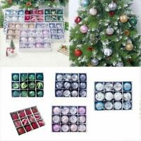 12X Christmas Tree Balls Baubles Glitter Hanging Xmas Party Ornament Home Decor