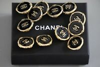 Chanel button 1 pieces  size 0,8 inch 20 mm logo CC black & gold metal