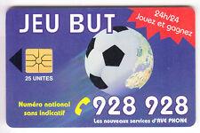 AFRIQUE TELECARTE / PHONECARD .. MAROC 25U GEM1A AVE FOOTBALL BUT  CHIP/PUCE