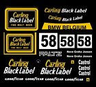 #58 Carling Black Label BMW 1978 1/43rd Scale Slot Car Decals