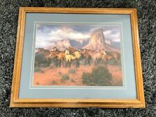 Jack Sorenson Horses In Canyon Art Print Framed and Matted