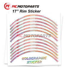 17'' Rim Chrome Holographic Wheel Sticker For Ducati SuperSport S 2018-2020(Fits: Ducati GT)