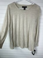 Style & Co Petite NEW Size PS Warm Ivory Long Sleeve T-Shirt Top NWT