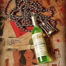 Unique WINE BOTTLE & CORKSCREW NECKLACE handmade CHARMS cute! MIXED UP DOLLY