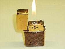 """WIN """"007"""" (JAMES BOND) VINTAGE GAS LIGHTER W. LEATHER TRIM - FEUERZEUG - JAPAN"""