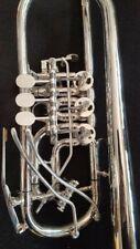 BerkeleywindSilver Rotary C Trumpet Upper Register Harmonic Key Surprise!!FREE