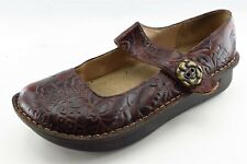 Alegria Size 39 M Brown Round Toe Mary Jane Leather Wmn