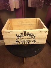 Jack daniels tennessee fire hand made rustic urban chic apple crate/wooden box