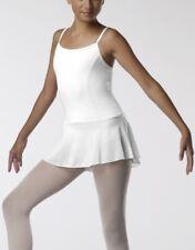 Justaucorps à jupette-Tunique de danse-fille-TEMPS DANSE Mareva-blanche-8/10 ans