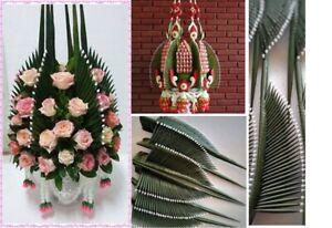 Baisri Part Artificial Thai Rice Offering Folded Leaf Fabric Flower Ornament DIY