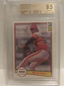 1982 Nolan Ryan Donruss #419 BGS 9.5 Quad!! Pop 2!!
