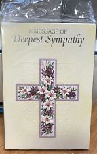 Stationery Deepest Sympathy Cards With A Cross Pack of 6