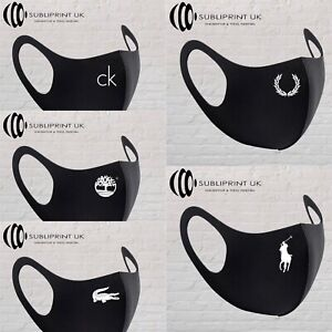 Fashion Face Mask - Pack Of 5 Reusable & Washable Face Masks in Black