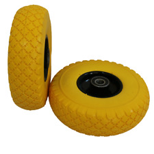 """2X10"""" Solid PU Rubber Tyre Wheel Replacement Trolley wheel Cart No flat"""