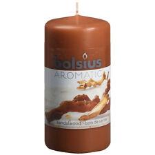 6 Duft Stumpen Kerzen 120x60 mm Sandelholz von Bolsius 1. Wahl