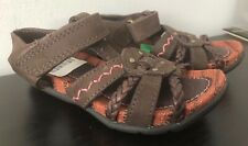 TIMBERLAND brown sandals, pink stitching BNWT size 8.5 UK, 26 EUR