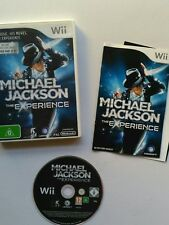 Wii Michael Jackson The Experience Game Nintendo with manual