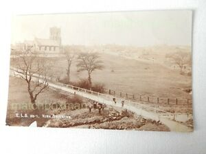 KIRK SMEATON YORKSHIRE EARLY (20TH REAL-PHOTOGRAPH POSTCARD DATED NOV 1910 MFM19