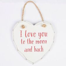 French Country Love & Hearts Decorative Door Signs/Plaques
