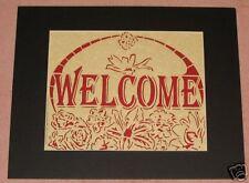 "8x10"" WELCOME papercutting/scherenschnitte"