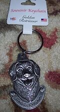 2 Inch Nice MGN SALER PEWTER GOLDEN RETRIEVER HEAD KEY CHAIN WE LOVE OUR PETS