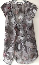 """O'neill – white silk blend cap sleeved top – size XS (32"""" chest)"""