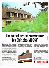 PUBLICITE  1971   ROUGIER  shingles MUSSY   couveture toiture