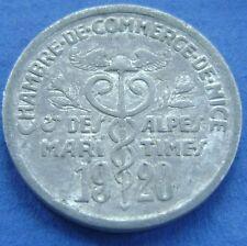 Frankrijk France   Nice & des Alpes-Maritime 5 centimes 1920 CHAMBRE DU COMMERCE