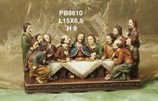 Gesù Ultima Cena in resina lunga cm 15 Cenacolo Presepe Pasquale by Paben