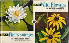 BROOKE BOND CANADA - RARE ALBUM + SET OF 48  WILD  FLOWERS  CARDS  -  1961