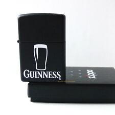 ZIPPO Feuerzeug GUINNESS PINT Black matte Irish Beer Bier Irland  NEU OVP