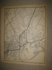 ANTIQUE 1931 BRIDGEPORT STRATFORD LAUREL BEACH FAIRFIELD COUNTY CONNECTICUT MAP