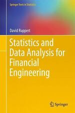 Statistics and Data Analysis for Financial Engineering Hardcover David Ruppert