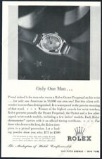 1942 Rolex Oyster Perpetual watch photo Only One Man in 18000 vintage print ad