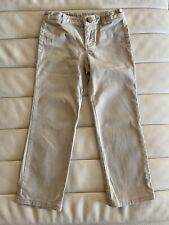 Lee School Girls Cotton Beige Pants Trousers Uniform Size 6 Adjustable Waist