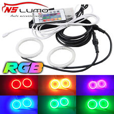 2pcs 72mm LED RGB Waterproof Angel Eyes Light With Remote Control With PC Cover