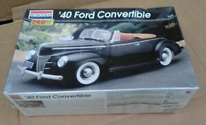 Monogram 1940 Ford Convertible 5961 Factory Sealed 1:25