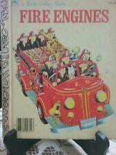 FIRE ENGINES Little Golden Book 310-56 1959 Reprint (VGC)